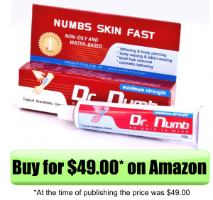 Best tattoo numbing cream 10 most effective review for Does dr numb work for tattoos