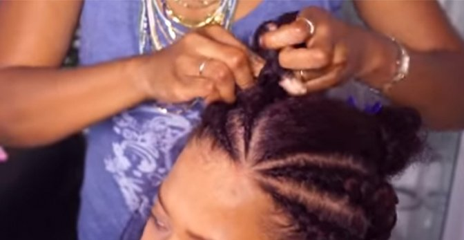 Ghana Braids How to Install Ghana Braids / Invisible Cornrows on Natural Hair